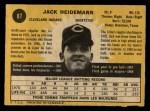 1971 O-Pee-Chee #87  Jack Heidemann  Back Thumbnail