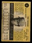 1971 O-Pee-Chee #76  Ted Savage  Back Thumbnail