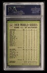 1971 Topps #331   -  Brooks Robinson 1970 World Series - Game #5 - B. Robinson Commits Robbery Back Thumbnail