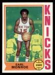 1974 Topps #25  Earl Monroe  Front Thumbnail