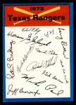 1973 Topps Blue Team Checklists #24   Texas Rangers Front Thumbnail