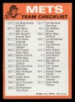 1973 Topps Blue Team Checklists #16   New York Mets Back Thumbnail