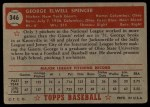 1952 Topps #346  George Spencer  Back Thumbnail