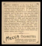 1910 T218 Champions #17  H.E. Gissing  Back Thumbnail