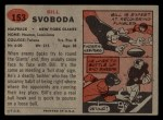 1957 Topps #153  Bill Svoboda  Back Thumbnail