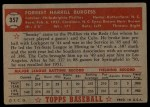 1952 Topps #357  Smoky Burgess  Back Thumbnail