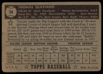 1952 Topps #56  Tommy Glaviano  Back Thumbnail
