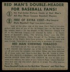 1952 Red Man #8 NL x Jim Hearn  Back Thumbnail