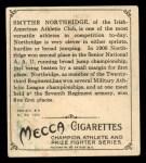 1910 T218 Champions #40  Smythe Northridge  Back Thumbnail