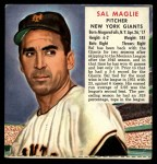 1952 Red Man #14 NLx Sal Maglie  Front Thumbnail