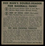 1952 Red Man #24 NL x Bobby Thomson  Back Thumbnail