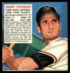 1952 Red Man #24 NL x Bobby Thomson  Front Thumbnail