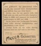 1910 T218 Champions #29  Joseph Jordan  Back Thumbnail