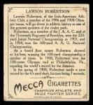 1910 T218 Champions #48  Lawson Robertson  Back Thumbnail