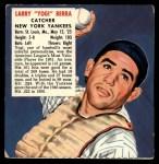 1952 Red Man #3 AL x Yogi Berra  Front Thumbnail