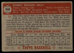 1952 Topps #348  Bobby Kelly  Back Thumbnail