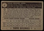 1952 Topps #47  Willie Jones  Back Thumbnail