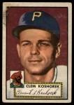 1952 Topps #380  Clem Koshorek  Front Thumbnail