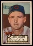1952 Topps #401  Bob Schultz  Front Thumbnail
