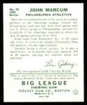 1934 Goudey Reprint #69  John Marcum  Back Thumbnail
