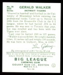 1934 Goudey Reprints #26  Gerald Walker  Back Thumbnail