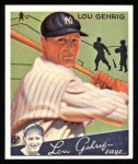 1934 Goudey Reprint #61  Lou Gehrig  Front Thumbnail