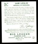 1934 Goudey Reprint #49  Sam Leslie  Back Thumbnail