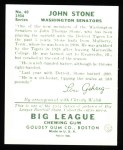 1934 Goudey Reprint #40  John Stone  Back Thumbnail