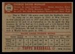 1952 Topps #115  Red Munger  Back Thumbnail