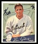 1934 Goudey Reprints #62  Hank Greenberg  Front Thumbnail
