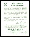 1934 Goudey Reprints #66  Mel Harder  Back Thumbnail