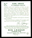 1934 Goudey Reprint #58  Earl Grace  Back Thumbnail