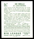 1934 Goudey Reprints #73  Ed Wells  Back Thumbnail
