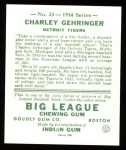 1934 Goudey Reprints #23  Charley Gehringer  Back Thumbnail