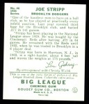 1934 Goudey Reprints #46  Joe Stripp  Back Thumbnail