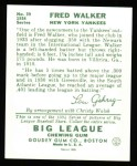 1934 Goudey Reprints #39  Dixie Walker  Back Thumbnail