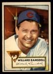 1952 Topps #114  Willard Ramsdell  Front Thumbnail
