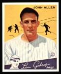 1934 Goudey Reprint #42  John Allen  Front Thumbnail