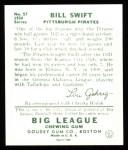 1934 Goudey Reprints #57  Bill Swift  Back Thumbnail