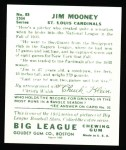 1934 Goudey Reprint #83  Jim Mooney  Back Thumbnail