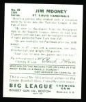 1934 Goudey Reprint #83  Jim Mooney  Back Thumbnail