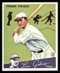 1934 Goudey Reprint #13  Frankie Frisch   Front Thumbnail