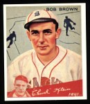 1934 Goudey Reprint #81  Bob Brown  Front Thumbnail