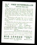 1934 Goudey Reprint #93  Fred Ostermueller  Back Thumbnail