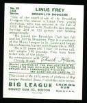 1934 Goudey Reprint #89  Linus Frey  Back Thumbnail
