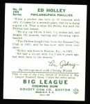 1934 Goudey Reprint #55  Ed Holley  Back Thumbnail