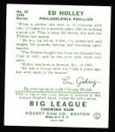 1934 Goudey Reprint #55  Ed Holley  Back Thumbnail