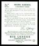 1934 Goudey Reprint #56  Mark Koenig  Back Thumbnail