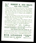 1934 Goudey Reprints #94  Red Rolfe  Back Thumbnail