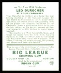 1934 Goudey Reprints #7  Leo Durocher  Back Thumbnail